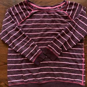 Xhilaration maroon and pink striped sweatshirt XL